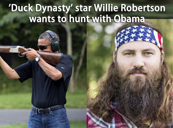 willie robertson with obama